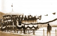 Кондитерская Верне, украшенная по случаю приезда Императорской Фамилiи