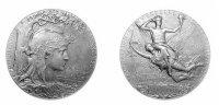 Именная Серебрянная медаль В. Сокорнова с Всемирной Парижской выставки 1900 г.