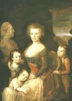 Портрет графини А. Браницкой с детьми. Луиза Дессеме с оригинала А. Кауфман