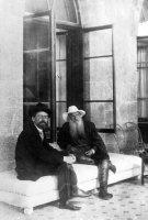 Толстой и Чехов на веранде дворца графини Паниной